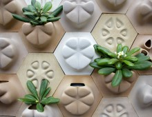 Planter Tile in Cement